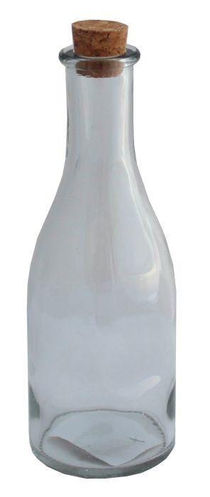 láhev 0,3l sklo válc.uzká+kork.zátka, ocet/olej