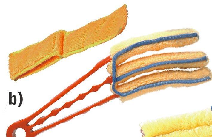 čistič žaluzií 23cm,mikrovlákno