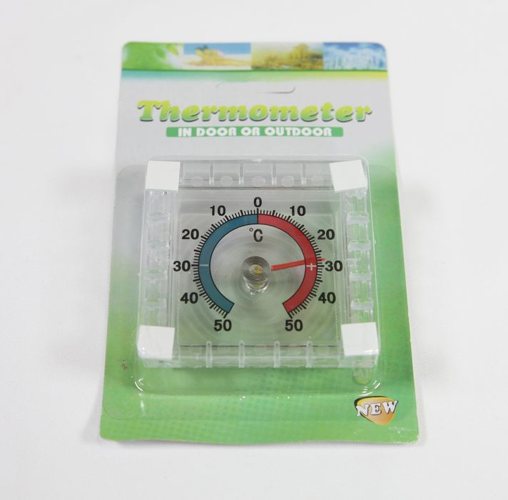 teploměr  7,5x7,5cm univ., -50°C+50°C, samolep.