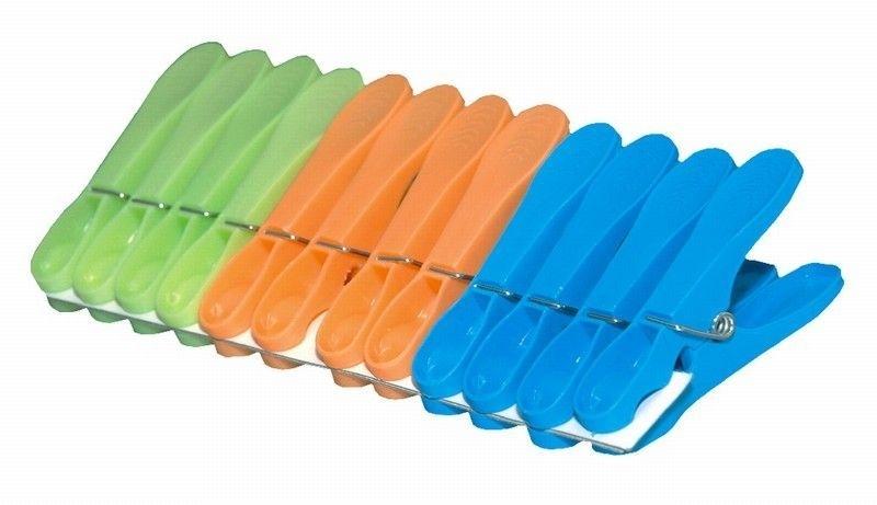 kolíčky 12ks JUMBO, 8,3x3,3x1cm, plast