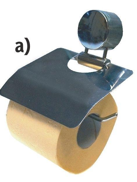 držák WC papíru s klapkou, celochrom