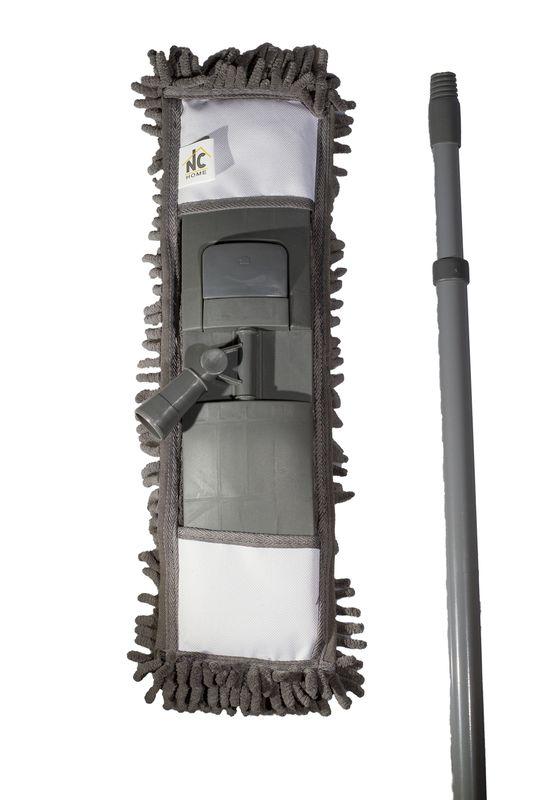 mop GREY CHENIL.12x41cm, žinyl, tel.tyč-120cm