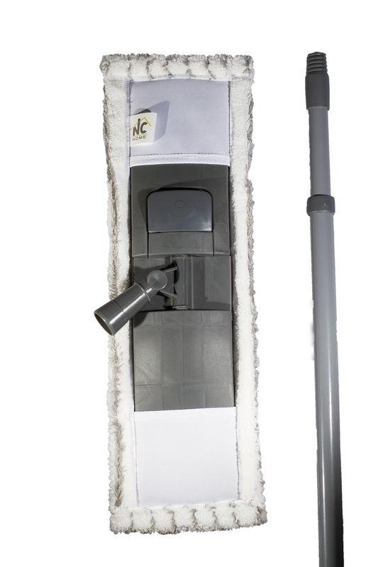 mop GREY 14x44cm, mikrovl., tel.tyč-120cm