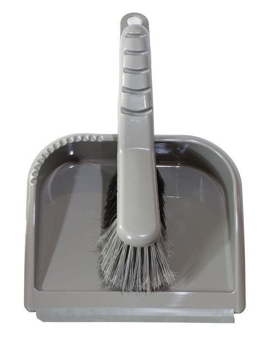 smetáček+lopatka TRENDY, stříbrný, gum.lišta