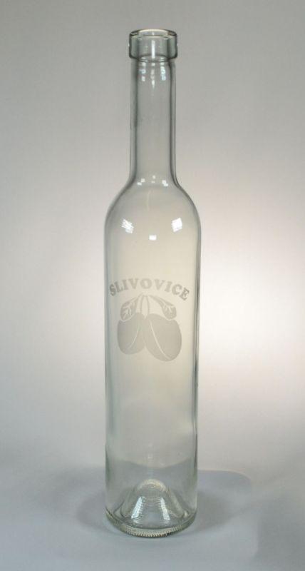 láhev 0,5l SLIVOVICE (písk.) BORDOLESE, sklo