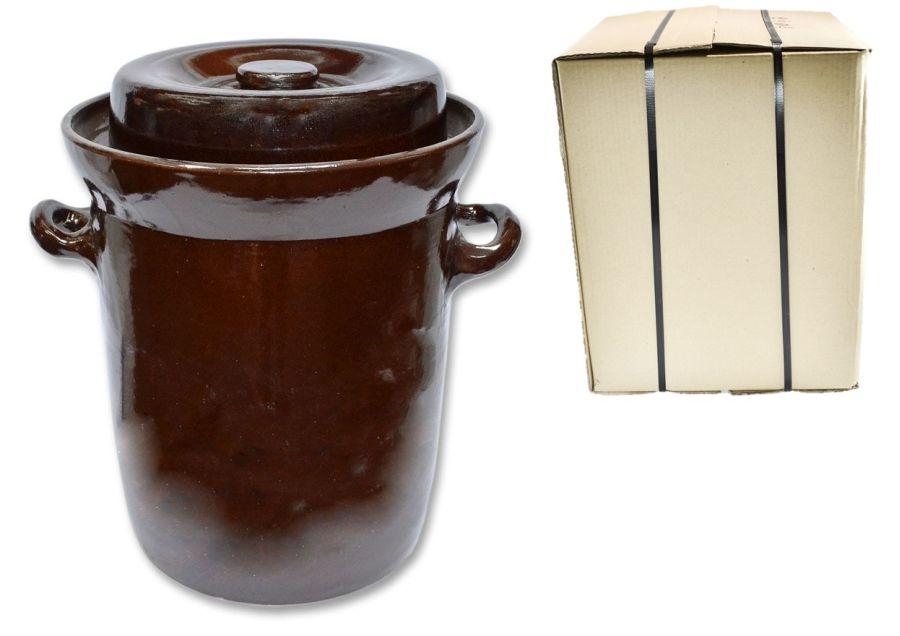 zelák 15l+víko (24,5/26,5cm), KART.OBAL, keramika