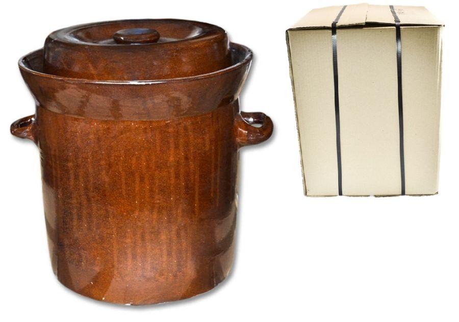 zelák 20l+víko,ucha (27/30cm), KART.OBAL, keramika