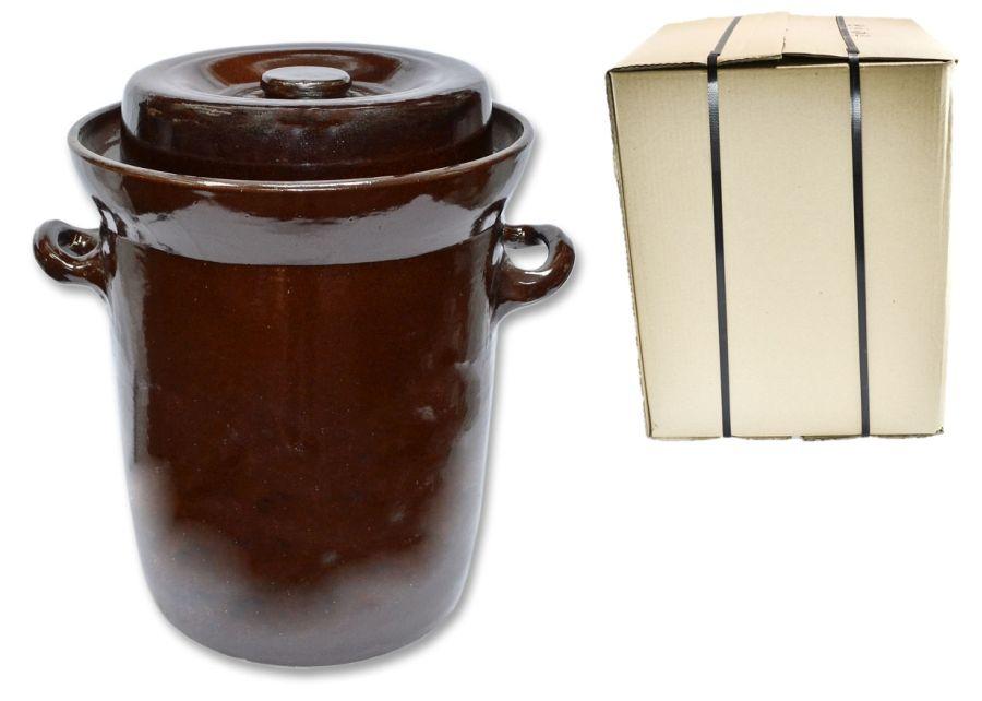 zelák 25l+víko,ucha (27,5/29,5cm), KART.OBAL, keramika