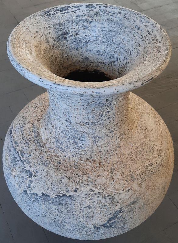váza K 2B bílá 47x22cm, keramika