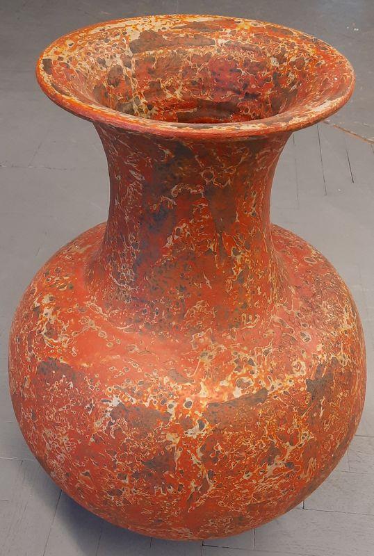 váza K 1B oranž 57x29cm, keramika