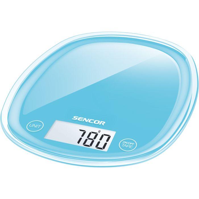 váha  5kg kuch.dig., modrá, SENCOR, 18x22x2,6cm