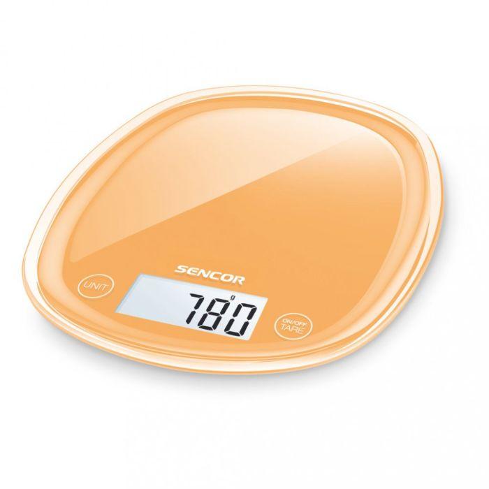 váha  5kg kuch.dig., oranž., SENCOR, 18x22x2,6cm