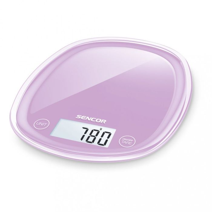 váha  5kg kuch.dig., fialová, SENCOR, 18x22x2,6cm