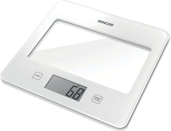 váha  5kg kuch.dig., bílá, SENCOR, 20x18x1,6cm