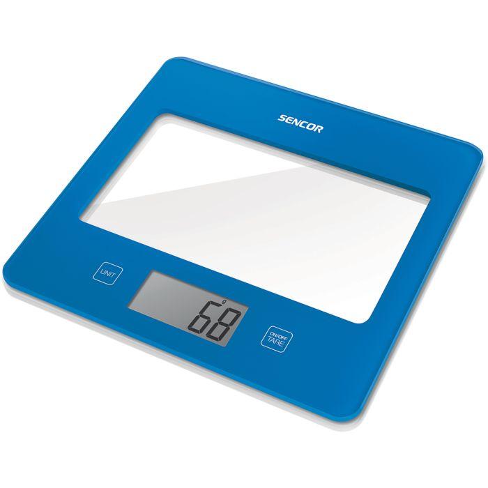 váha  5kg kuch..dig., tm.modrá, SENCOR, 20x18x1,6cm