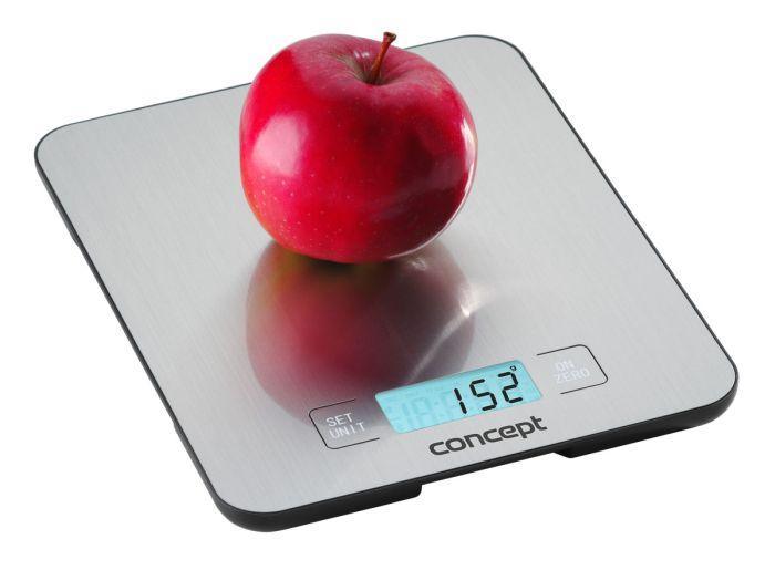 váha 15kg kuch..digit., stříbrná, 21,6x17,6cm