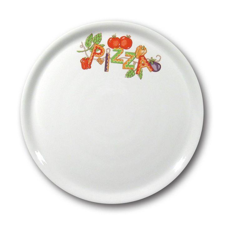 talíř d33cm na pizzu, DEKOR, porcelán