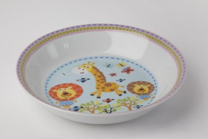 talíř d19cm hluboký, SAFARI, dětský, porcelán
