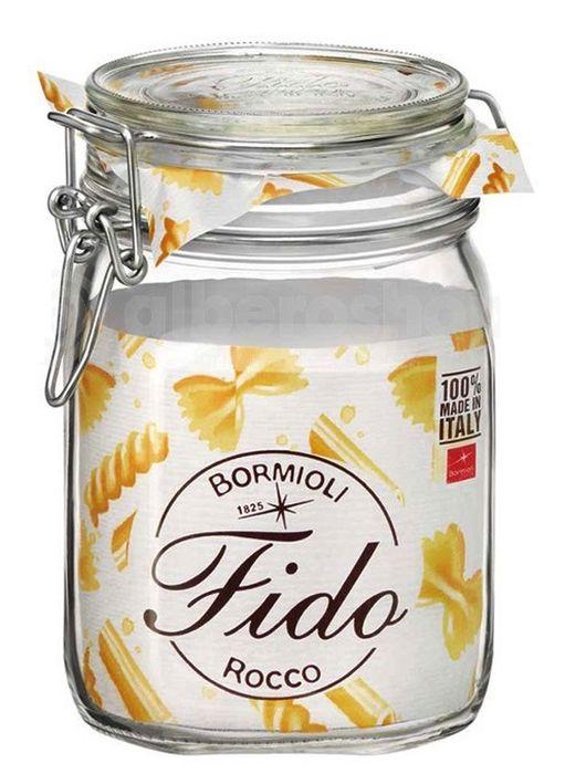 dóza 1,00l FIDO-Bormioli, 10,5x10,5x16cm, patentní sklo