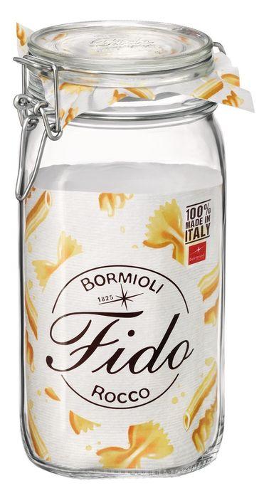 dóza 1,50l FIDO-Bormioli, 10,5x10,5x22cm, patentní sklo