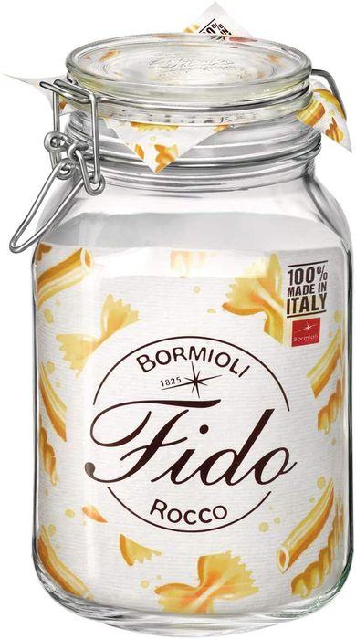 dóza 2,00l FIDO-Bormioli, 12,5x12,5x22cm, patentní sklo