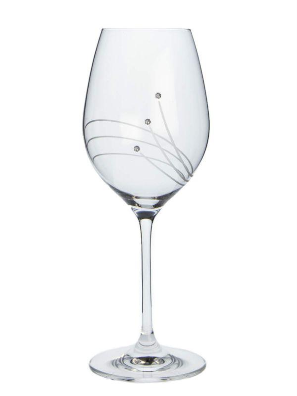 sklen. 470ml, 2ks, 30538, d9,3x24cm, Swarovski-víno
