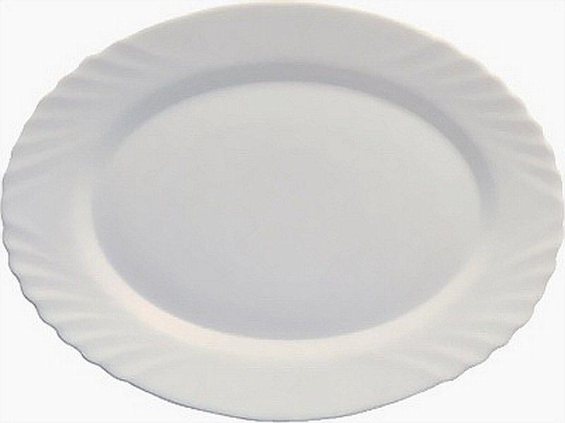 talíř 22cm ovál EBRO bílý, opál.sklo