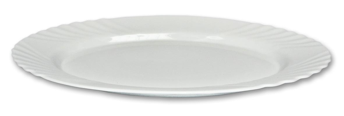talíř 36cm ovál EBRO bílý, opál.sklo