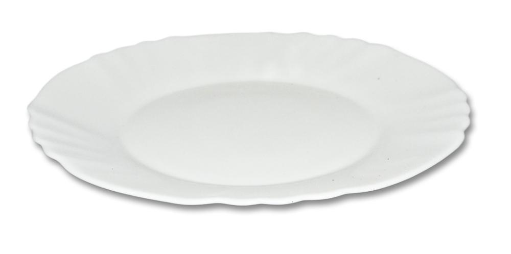 talíř d25cm mělký,EBRO bílý, opál.sklo