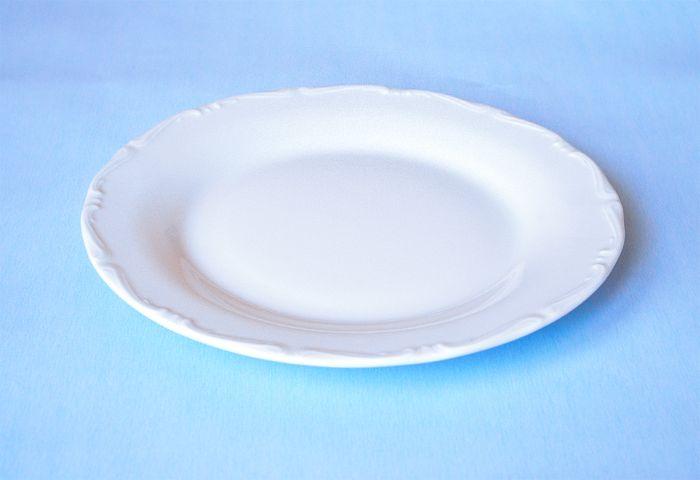 talíř d25cm mělký, ozd.porcelán