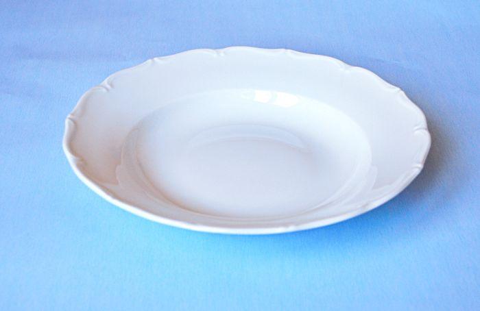 talíř d24cm hluboký, ozd.porcelán