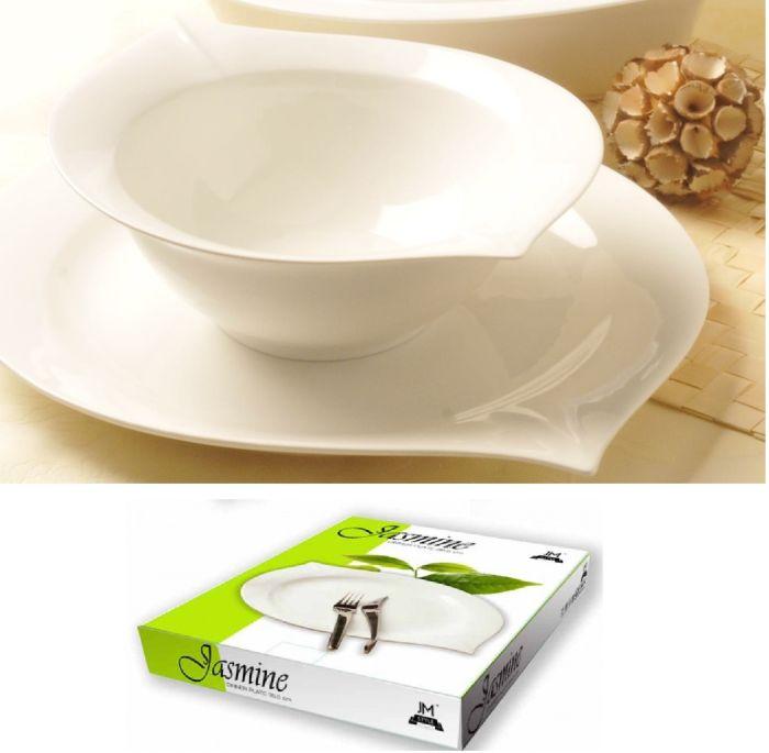 talíř 35,2x27,8x3,5cm mělký, JASMINE, porcelán