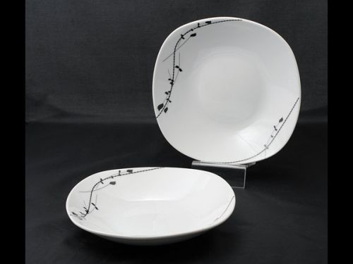 talíř d21,5cm hluboký, LONDRA dekor, porcelán