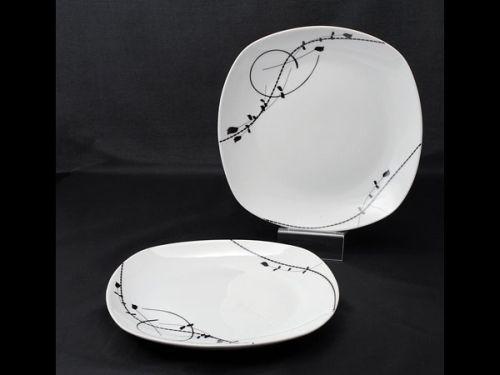 talíř d25cm mělký, LONDRA dekor, porcelán
