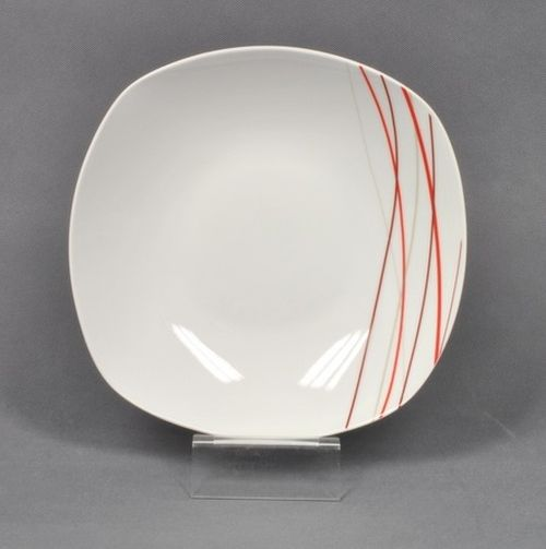 talíř d21,5cm hluboký, SENCILLA dekor, porcelán