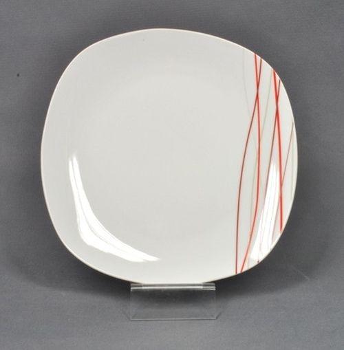 talíř d25cm mělký. SENCILLA dekor, porcelán