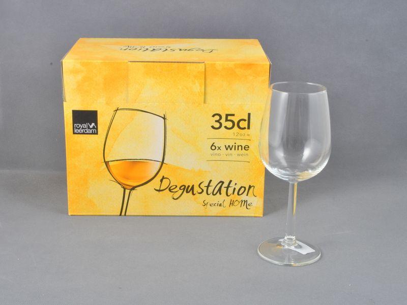 sklen. 350ml, 6ks, DEGUSTATION, víno
