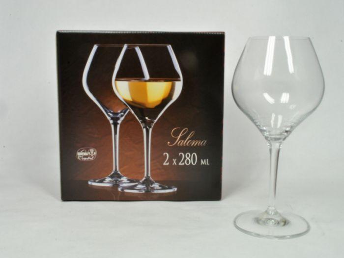 sklen. 280ml, 2ks, SALOMA víno
