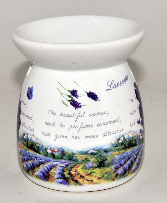lampa-aroma 10,5cm LEVANDULE keramika