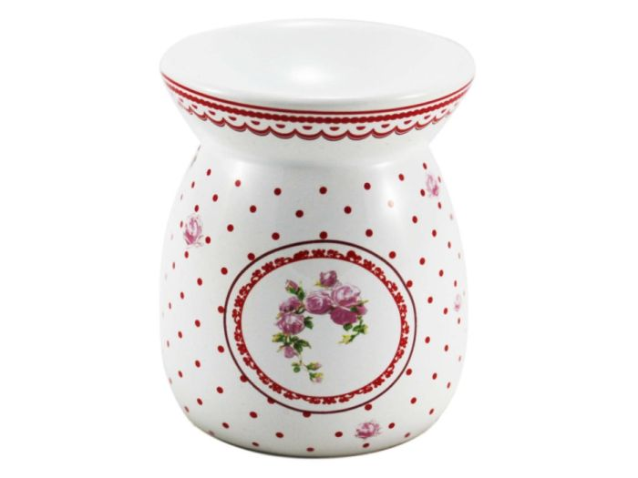 lampa-aroma d9,2x10,6cm ELEGANT červená,keramika