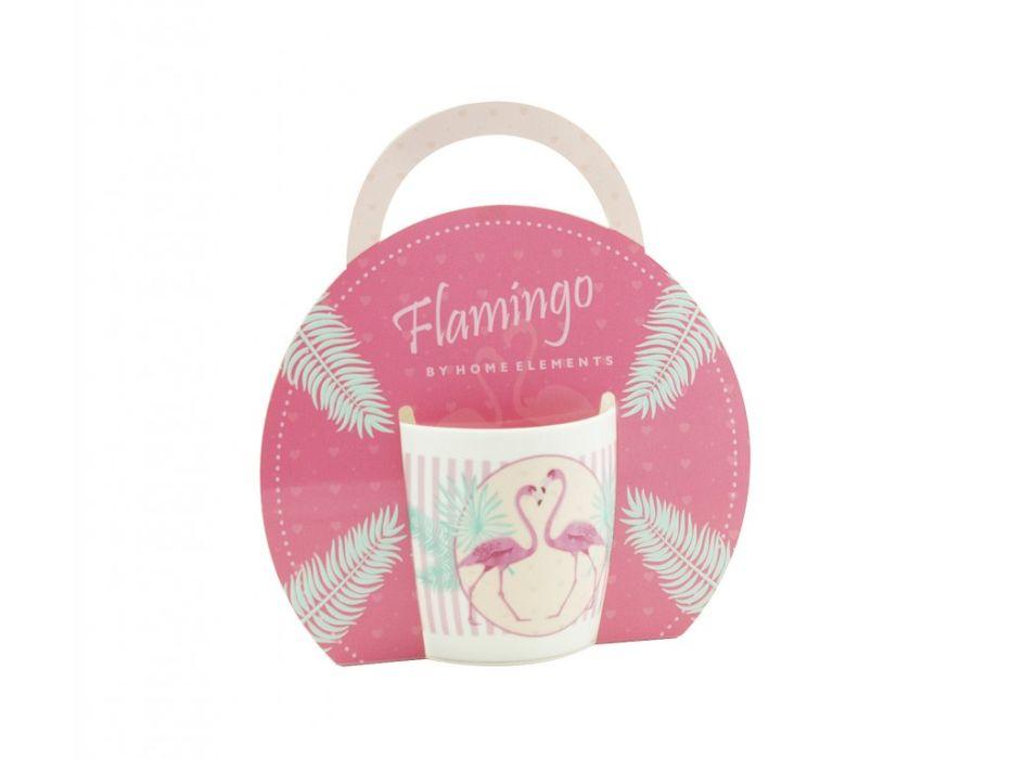 hrnek 300ml PLAMEŇÁCI Růž., porcel.+taška