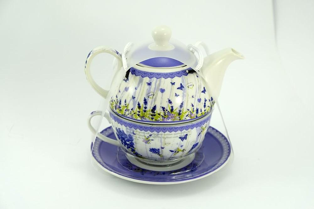 konvice LEVANDULE NOVÁ+šapo, porcelán