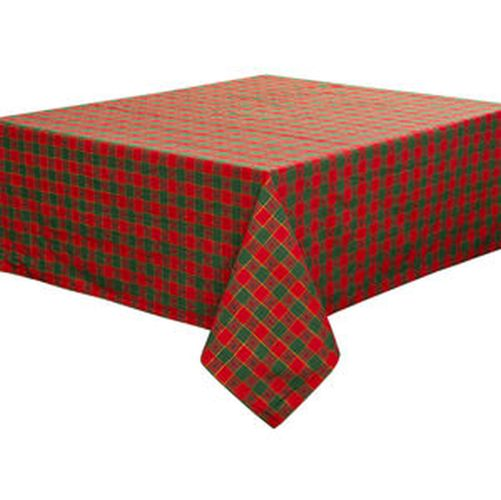 ubrus 140x120cm, červeno-zelený, bavlna