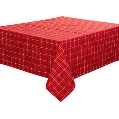 ubrus 140x120cm, červený, bavlna