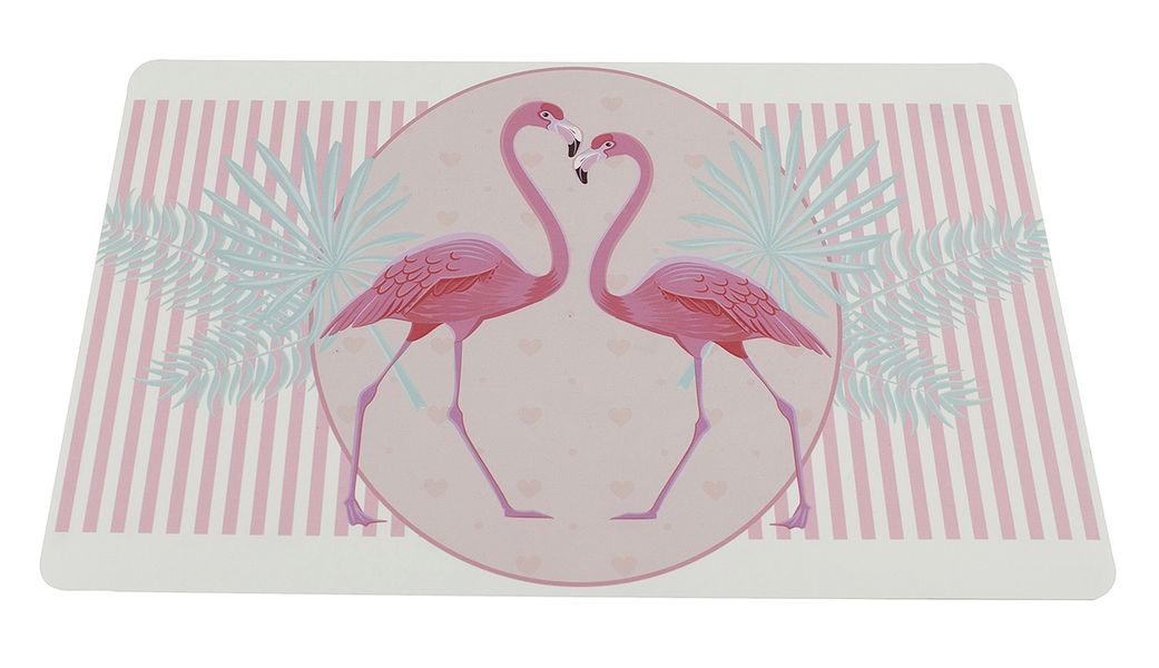 prostírání 43,5x28,5cm, PLAMEŇÁCI růžová, plast