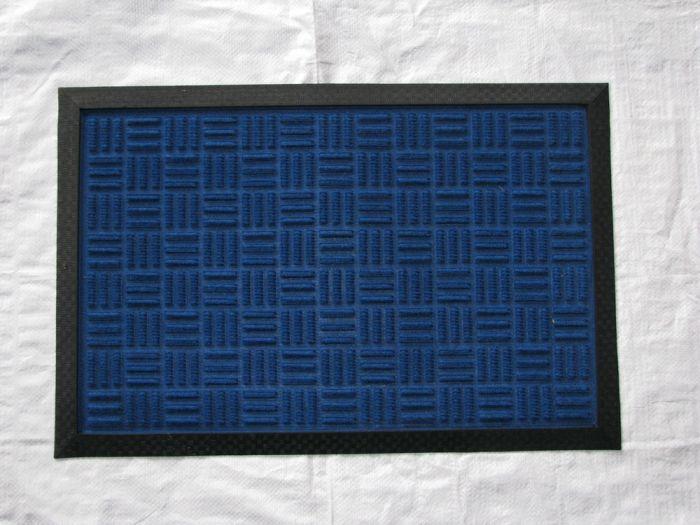 rohož  60x40cm modrá,hrubá, PP+guma