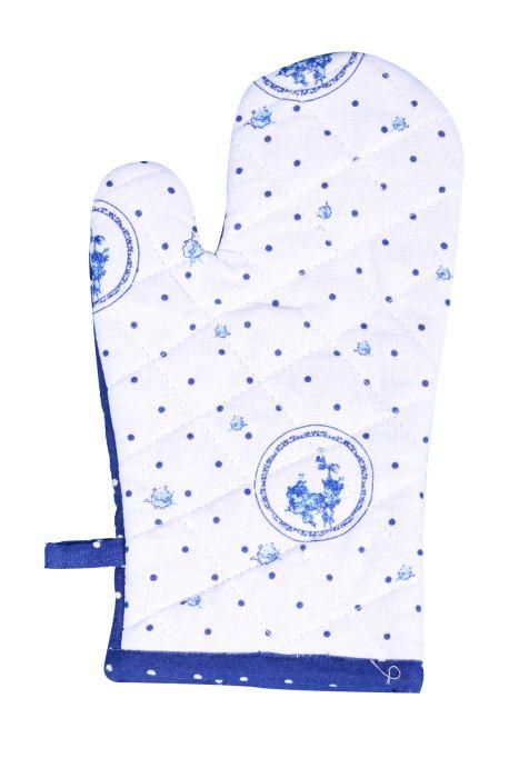 chňapka 30cm ELEGANT,modrý, BA,poutko,podšívka
