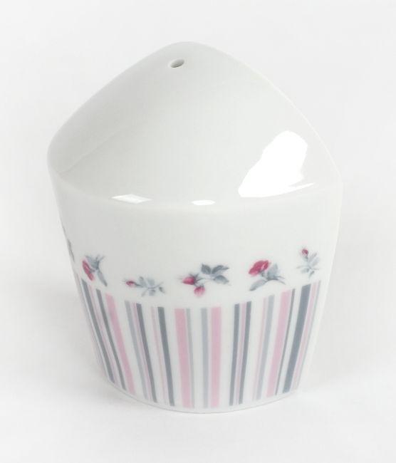 pepřenka VL 043, růže-proužek, čes.porcelán