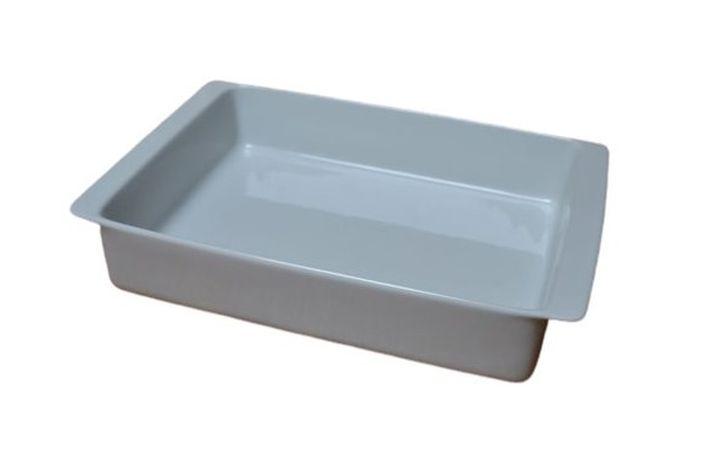 mísa 39x27x7cm, 2.jak., hran.zapék., bílá, čes.porcelán