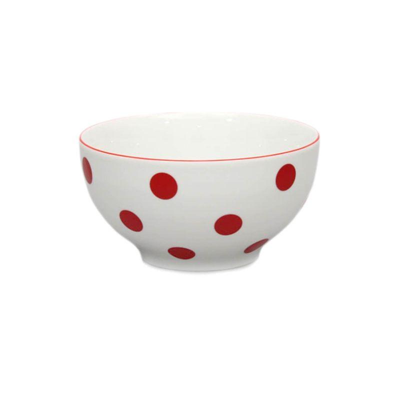 miska d14,5cm polév.červ.puntík-1.jak.THUN,porcelán